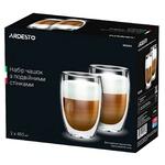 Ardesto Glass Set with Double Walls 0,45l 2pcs