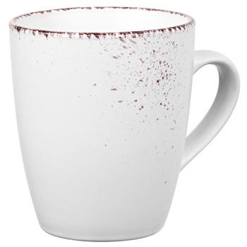 Чашка Ardesto Lucca AR2936WMC 360мл Winter white кераміка