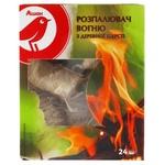 Разжигатель огня Ашан из древесной шерсти 24шт