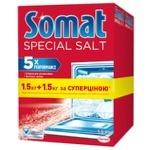 Засіб від накипу Somat Сіль для миття посуду в посудомийній машині 1.5 + 1.5кг