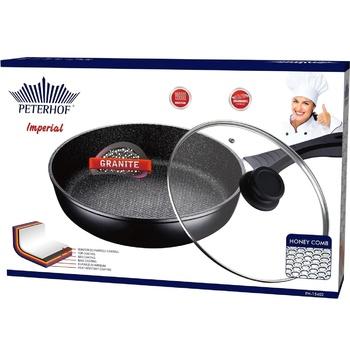 Сковорода Peterhof Imperial с крышкой гранитное покрытие 26х4.8см