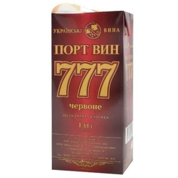 Вино Крымские Вина Портвейн 777 красное крепкое 17.5% 1л - купить, цены на Ашан - фото 7