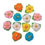 Украшение Добрык декоративная набор цветочек с росинкой и листочками