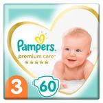 Pampers Premium Care Size 3 Midi Diapers 6-10kg 60pcs