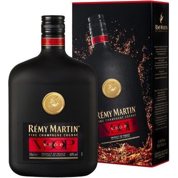 Коньяк Remy Martin V.S.O.P. 40% 0,5л - купити, ціни на Ашан - фото 1