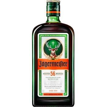 Ликер Jagermeister 35% 0,7л - купить, цены на Метро - фото 1
