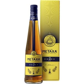 Бренді Metaxa 5* 38% 0,7л - купити, ціни на Novus - фото 1