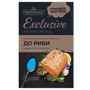 Натуральная приправа без соли для рыбы Exclusive Professional PRIPRAVKA 45г - купить, цены на Ашан - фото 1