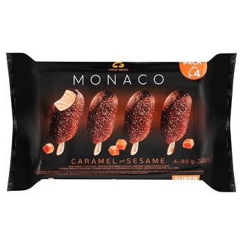 Набор мороженого Три Медведя Монако Карамель и кунжут глазированные 4шт*80г