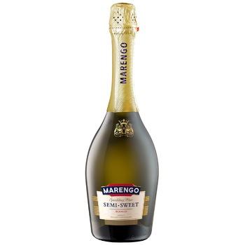 Вино игристое Marengo полусладкое Bianco белое 10-13,5% 0,75л - купить, цены на Ашан - фото 1