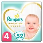 Подгузники Pampers Premium Care размер 4 Maxi 9-14кг 52шт