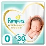 Підгузки Pampers Premium Care розмір 0 Newborn 1-2,5кг 30шт