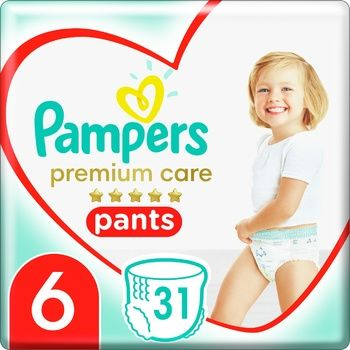 Pampers Premium Care Pants Diaper Size 6 Extra Large 15+ kg 31pcs - buy, prices for Auchan - photo 1