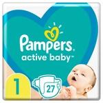 Подгузники Pampers Active Baby размер 1 Newborn 2-5 кг 27шт
