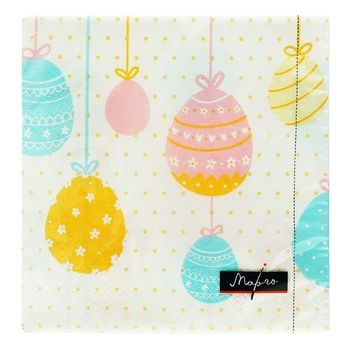 Margo Easter Eggs Napkins 33*33cm 20pcs - buy, prices for Auchan - photo 1