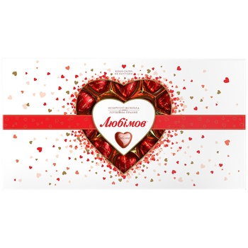 Lyubimov Assorted Chocolate Hearts Candy 225g