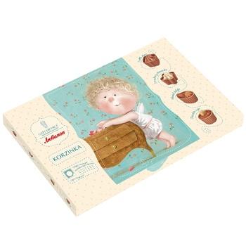 Конфеты Любимов шоколадная корзинка Ассорти 220г