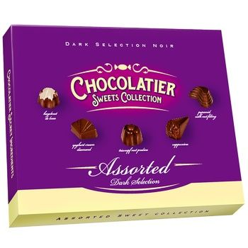 Chocolatier Sweets Collection Dark Selection Assorted Chocolate Candies 250g
