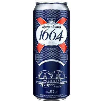 Kronenbourg 1664 Light Pasteurized Beer 5% 0,5l - buy, prices for CityMarket - photo 1