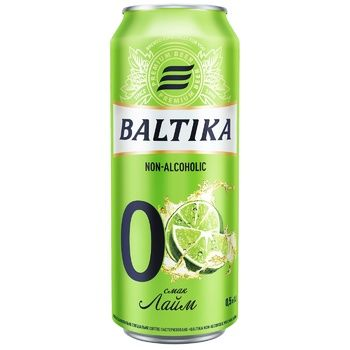 Baltika Lime Non-Alcoholic Beer Can 0,5l