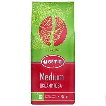 Gemini Medium Natural Roasted Ground Coffee 250g - buy, prices for CityMarket - photo 1