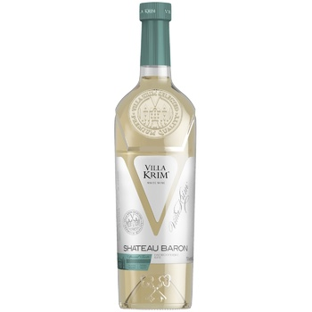 Вино Villa Krim Шато Барон полусладкое белое 9-13% 0,75л