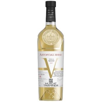 Вино Villa Krim Мускат-Трамінер біле напівсолодке 9-13% 0,75л