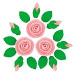 Кондитерські прикраси набір Украса Троянди
