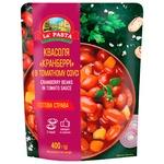 Квасоля La Pasta Кранберрі в томатному соусі 400г
