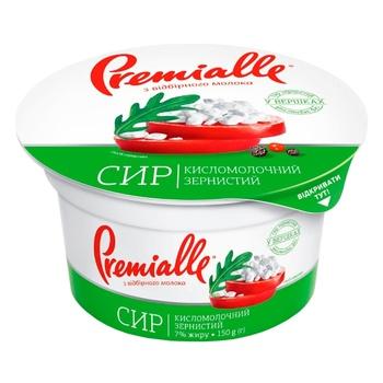 Сир кисломолочний Premialle зернистий 7% 150г - купити, ціни на Novus - фото 3
