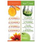 7th Heaven Face Food Mask Orange oil-vitamin C and Cucumber-apple 2pcs 12ml