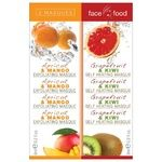 7th Heaven Face Food Mask Apricot-Mango and Grapefruit-Kiwi 2pcs 12ml