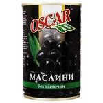 Oscar Pitted Black Olives 300ml