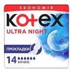Прокладки Kotex Ультра Найт сеточка 14шт
