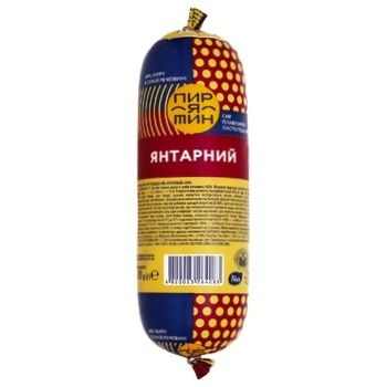 Сир плавлений Пирятин Янтарний ковбасний пастоподібний 60% 330г - купити, ціни на Ашан - фото 1