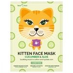 7th Heaven Face food Kitten Mask with Cucumber and Aloe for Face
