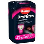 Нічні трусики-підгузники Huggies DryNites для дівчаток 4-7років 10шт