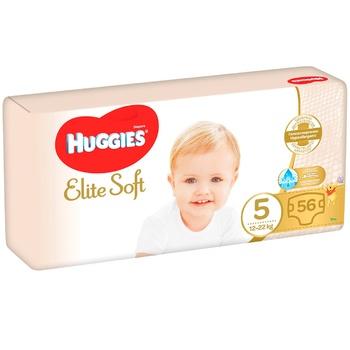 Подгузники Huggies Elite Soft 5 Mega 12-22кг 56шт