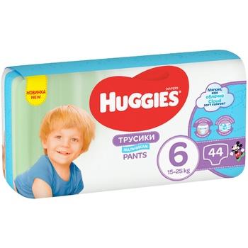 Трусики-подгузники Huggies Pants 6 Mega 15-25 кг для мальчиков 44 шт
