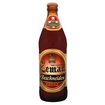 Пиво Zeman Beschneiden напівтемне 4% 0,5л