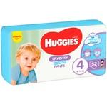 Трусики-подгузники Хаггис 4 для мальчиков 9-14кг 52шт