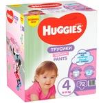 Підгузки-трусики Huggies для дівчаток 4 9-14кг 72шт/уп