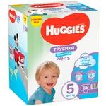 Подгузники-трусики Huggies для мальчиков 5 12-17кг 68шт/уп