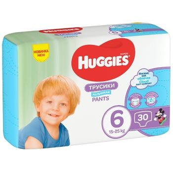 Трусики-підгузки Huggies Pants 6 Jumbo 15-25кг для хлопчиків 30шт - купити, ціни на ЕКО Маркет - фото 1
