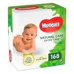 Серветки вологі Huggies Natural Care Extra Care дитячі з алое вера 3х56шт