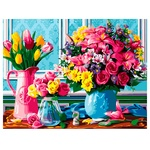 Bouquets of Flowers Set for Painting by Numbers 40x50cm