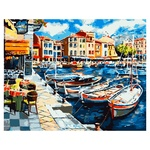 Quiet Harbor Set for Painting by Numbers 40x50cm