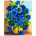 Bright Cornflowers Set for Painting by Numbers 40x50cm