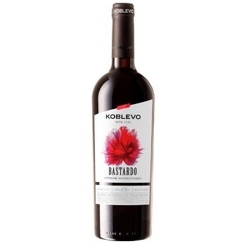 Вино червоне Коблево Бастардо виноградне ординарне столове напівсолодке 13% 750мл