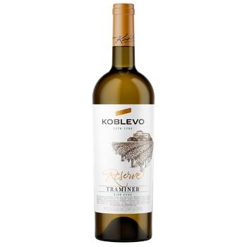 Вино Коблево Траминер Reserve Wine сухое белое 13% 0,75л